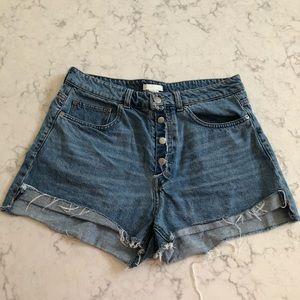H & M Conscious High waisted Denim Shorts   10